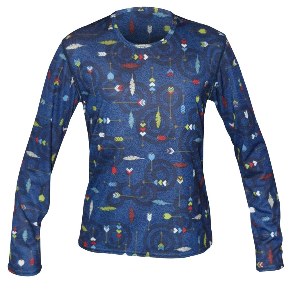 Hot Chillys Midweight Print Baselayer Top (Kids') - Fly Arrow