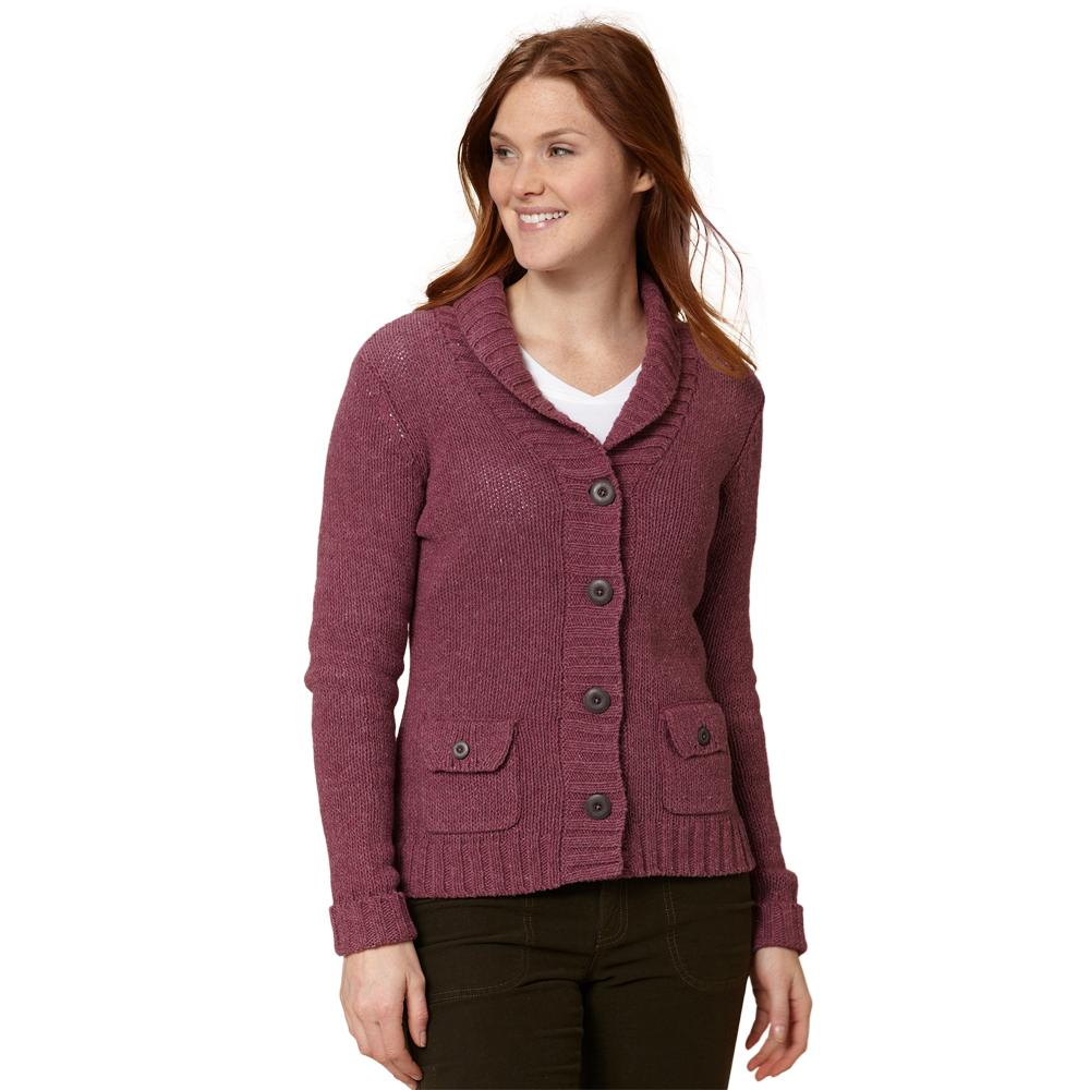 Royal Robbins Lily Cardigan Sweater (Women's) - Dark Cranberry