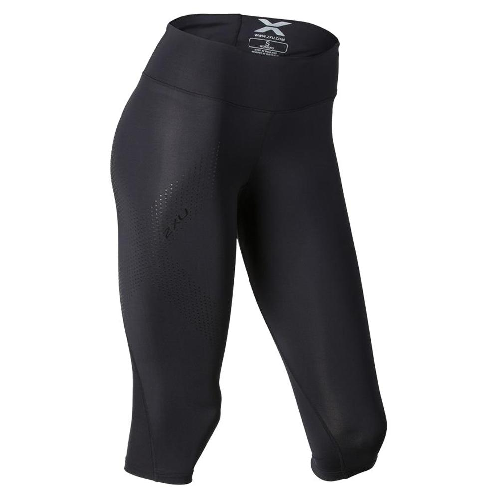 2XU Wide Waist 3/4 Compression Baselayer Tight (Women's) - Black/Dotted