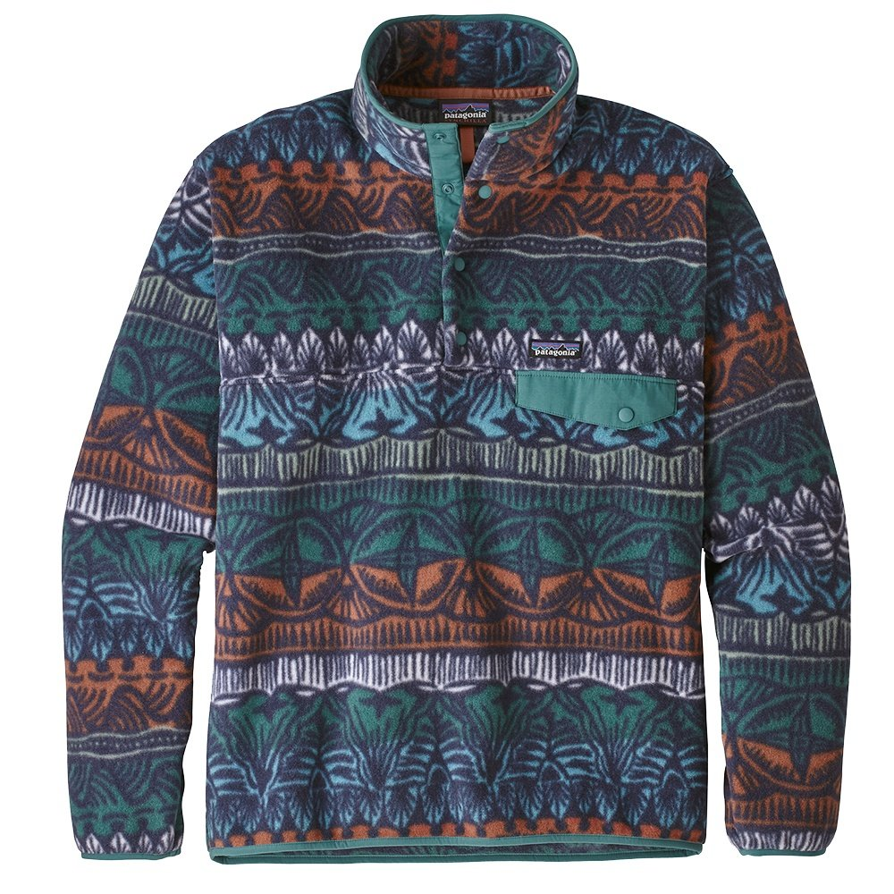 Patagonia Synchilla Snap-T Pullover Fleece (Men's) - Tradewinds Big/Stone Blue