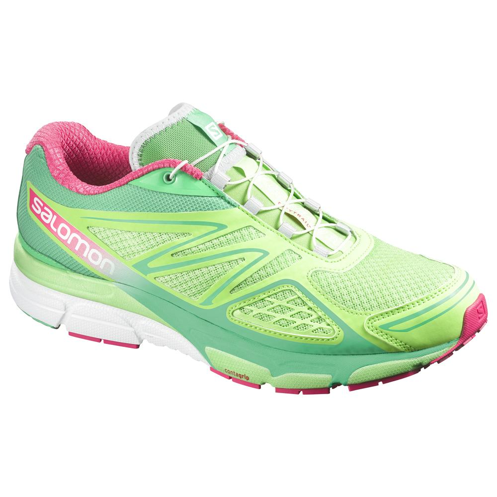 Salomon X Scream 3D Running Shoe (Women's) - Firefly Green/Wasabi/Hot Pink