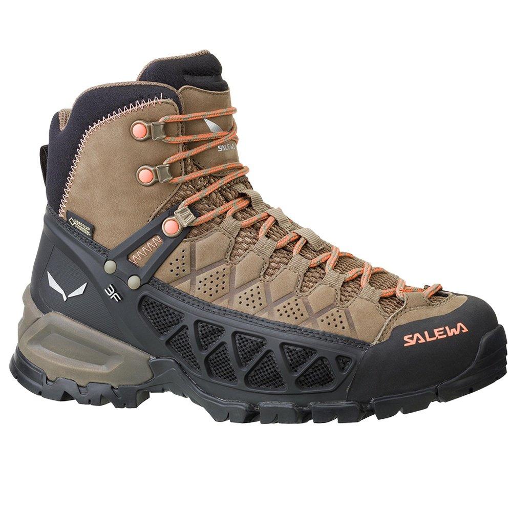 Salewa Alp Flow Mid GORE-TEX Hiking Boot (Women's) - Walnut/Peach Coral