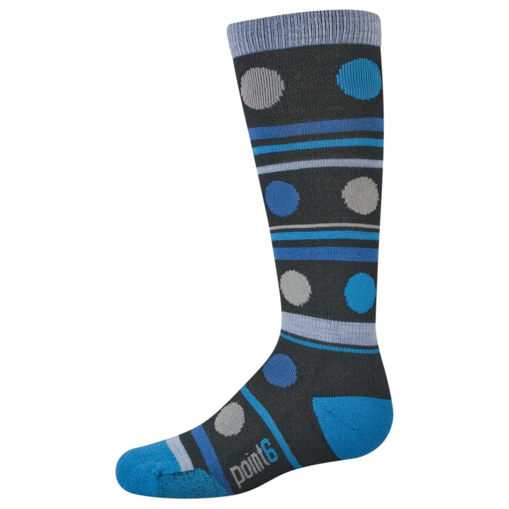Point6 Gum Drop Light Ski Sock (Kids') - Black