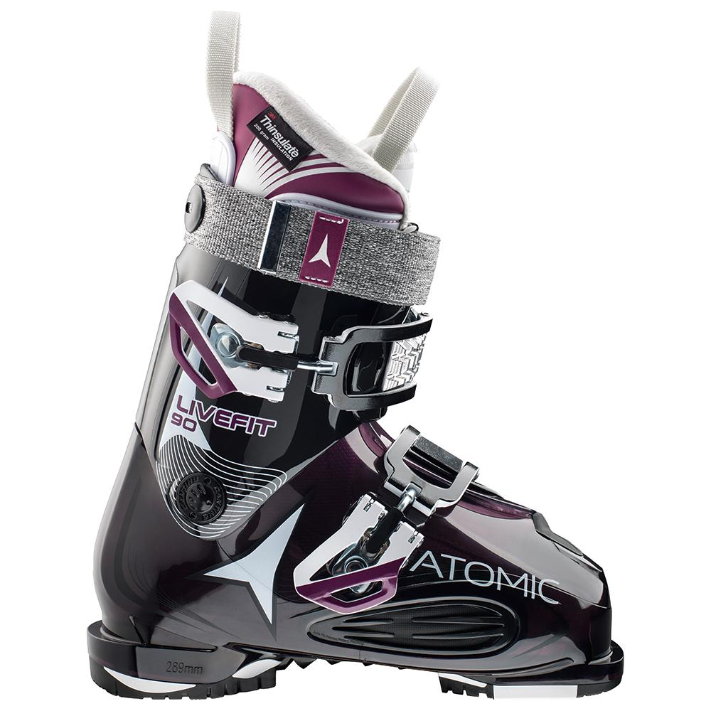 Atomic Live Fit 90 Ski Boot (Women's) - Transparent Purple/Black