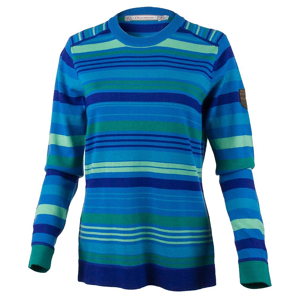 Obermeyer Fiona Stripe Knit Crew Sweater (Women's) - Sonic Blue