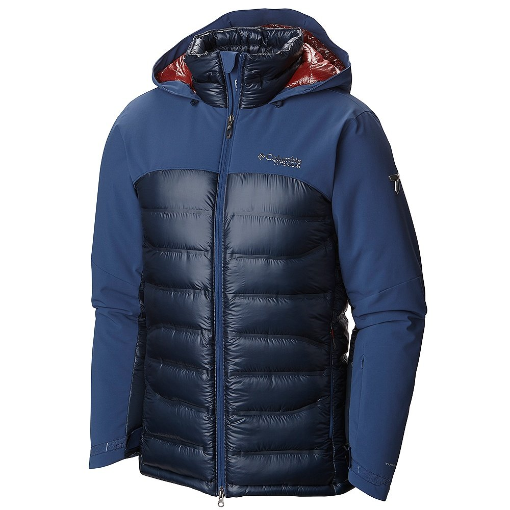 Columbia Heatzone 1000 Turbodown Ski Jacket (Men's) - Night Tide/Collegiate Navy/Rust Red