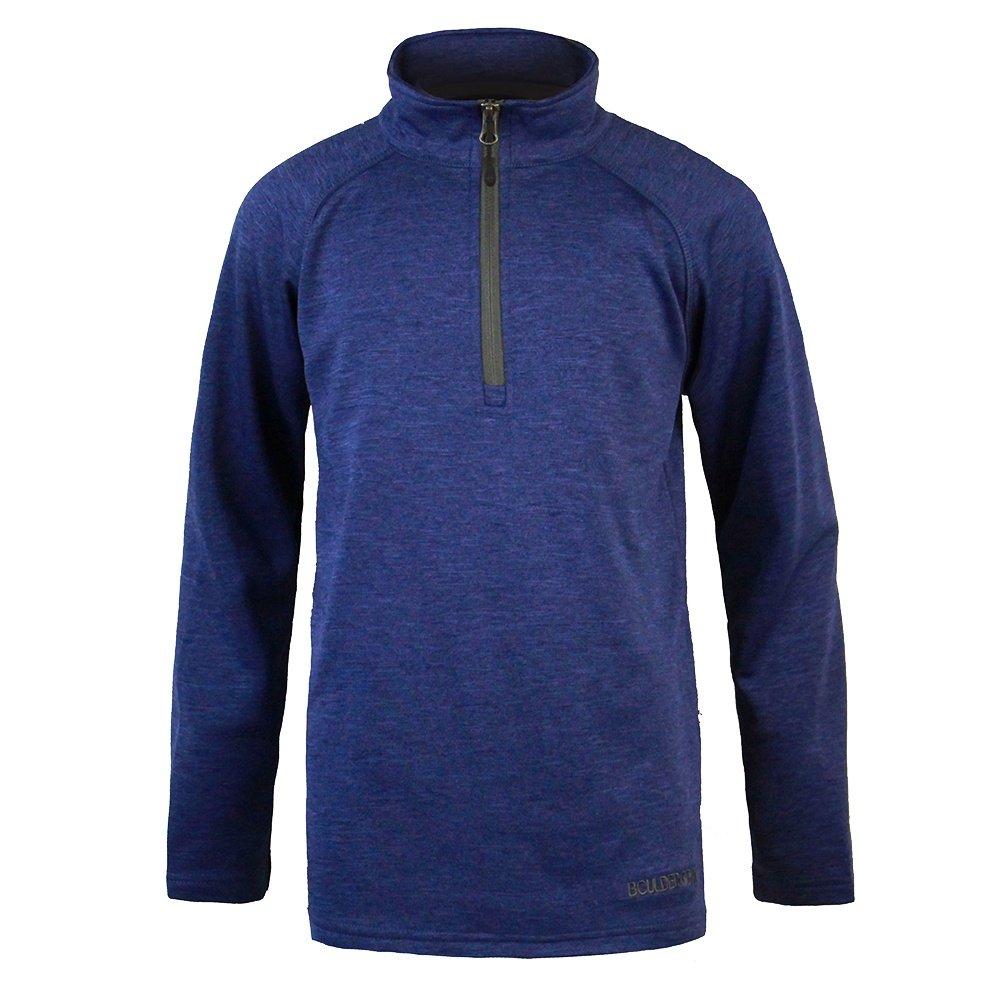 Boulder Gear Charge Micro Half Zip Fleece Mid-Layer (Boys') - Navy Peony