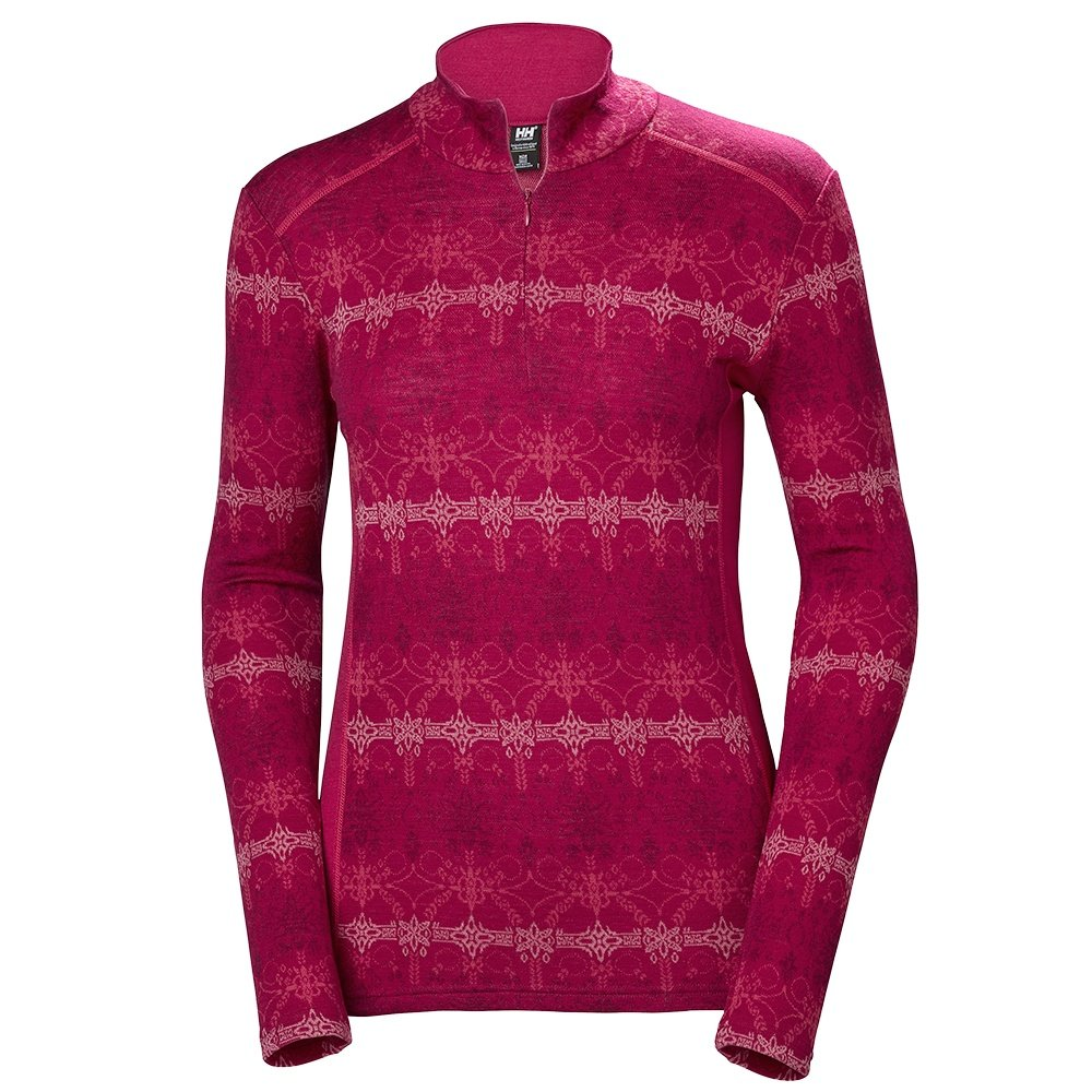 Helly Hansen Wool Graphic 1/2-Zip Mid-Layer (Women's) - Persian Red Frost