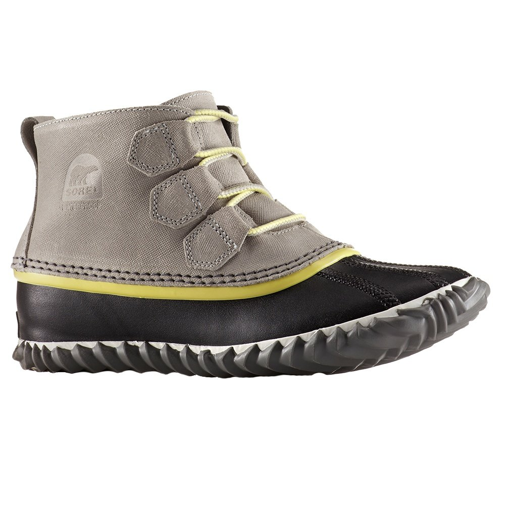 Sorel Out 'N About Waterproof Leather Boots (Women's) - Dove/Zest