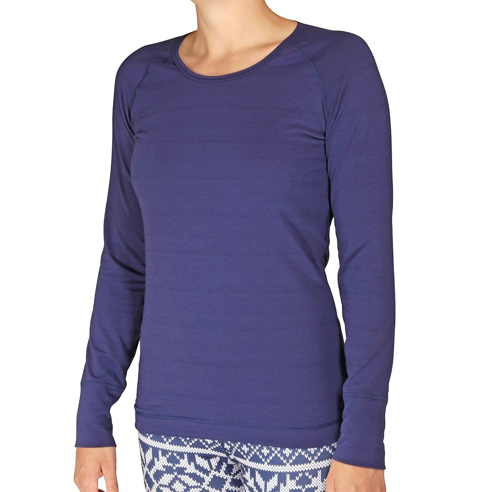Hot Chillys Solid Scoopneck Baselayer Top (Women's) - Lapis