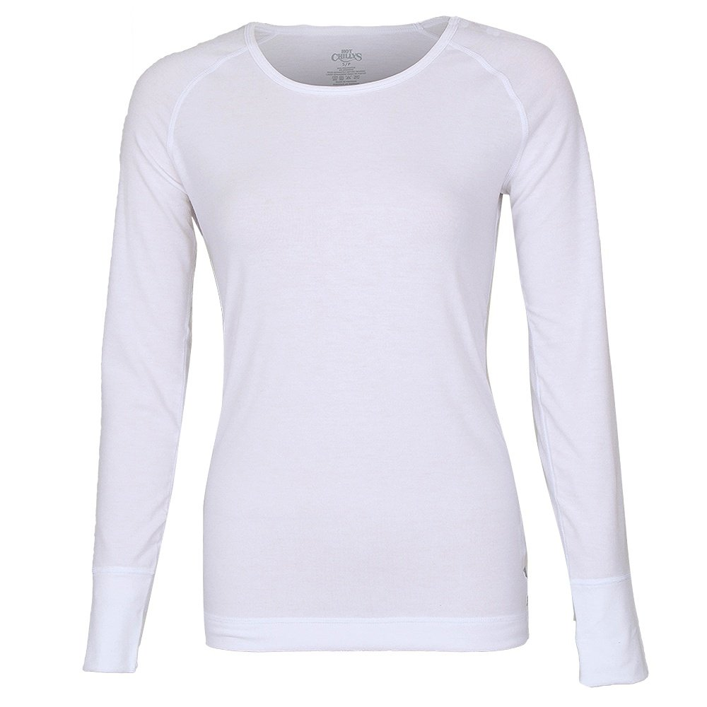 Hot Chillys Solid Scoopneck Baselayer Top (Women's) - White
