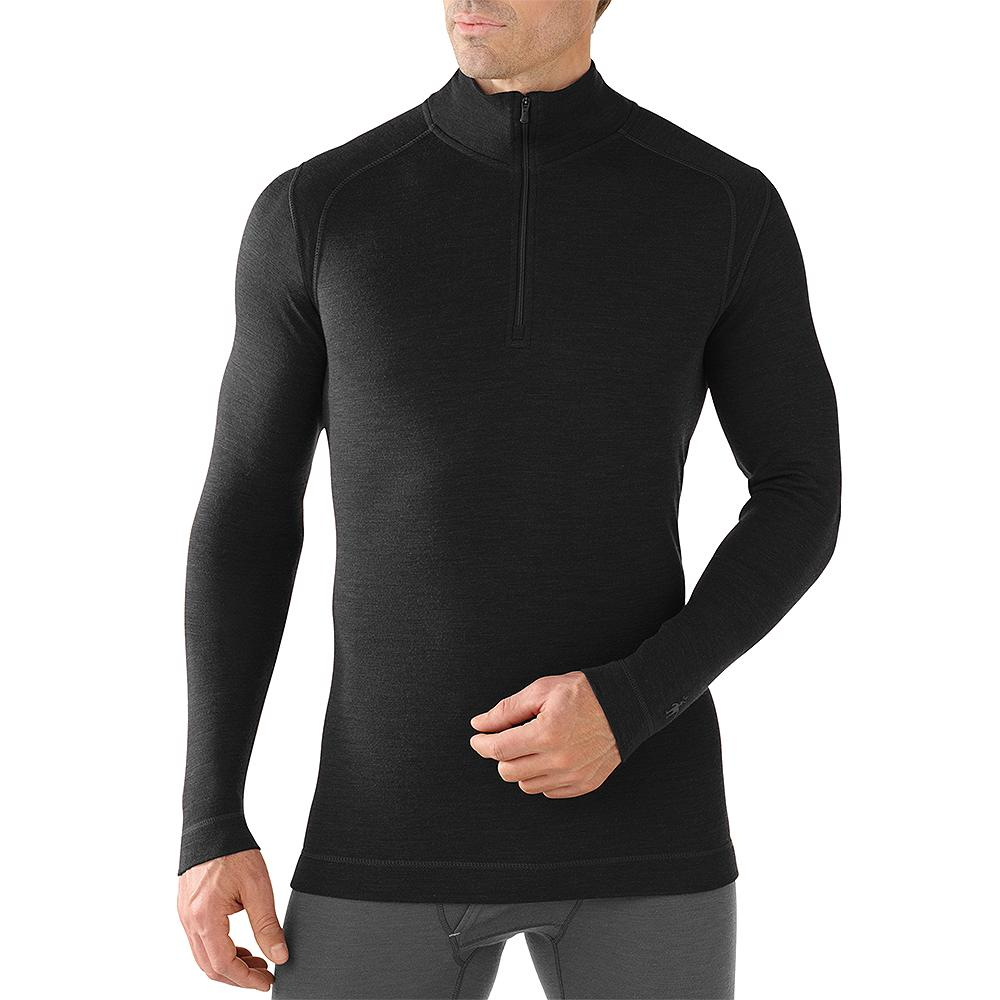 SmartWool NTS Mid 250 Zip Turtleneck Baselayer Top (Men's) - Black