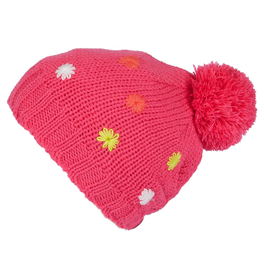 Jupa Emilia Knit Hat (Little Girls') - Foxy Pink