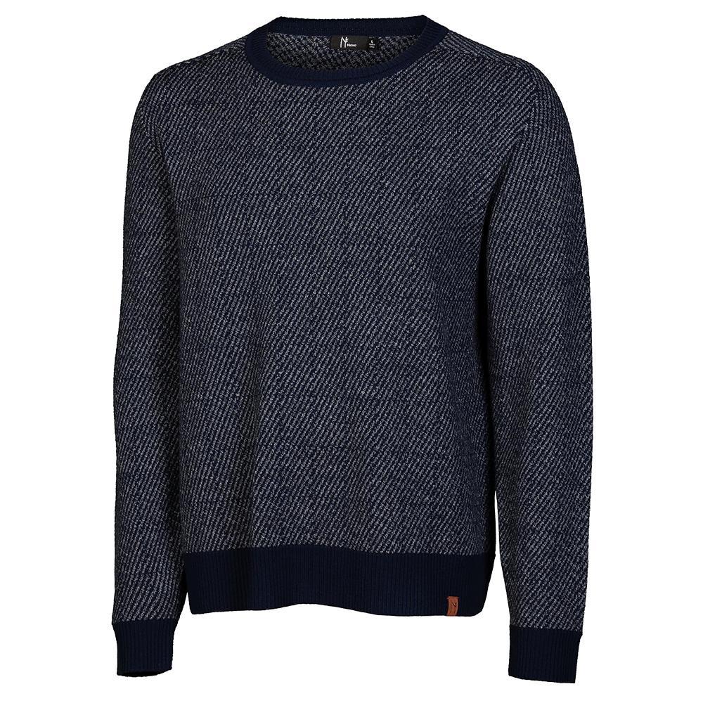 Neve Designs Brad Crew Neck Sweater (Men's) - Navy
