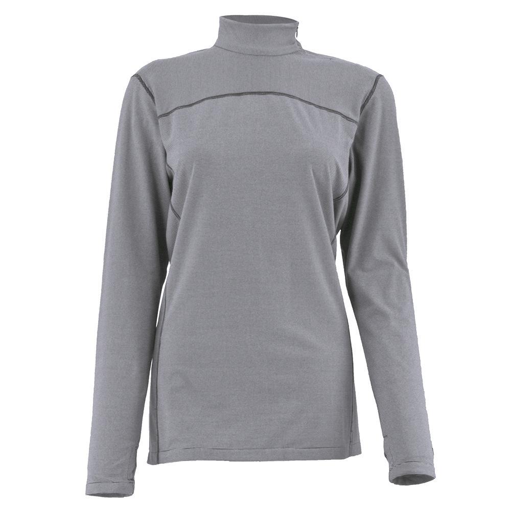 White Sierra Sierra Ridge Stripe Mock Shirt (Women's) - Sleet Grey
