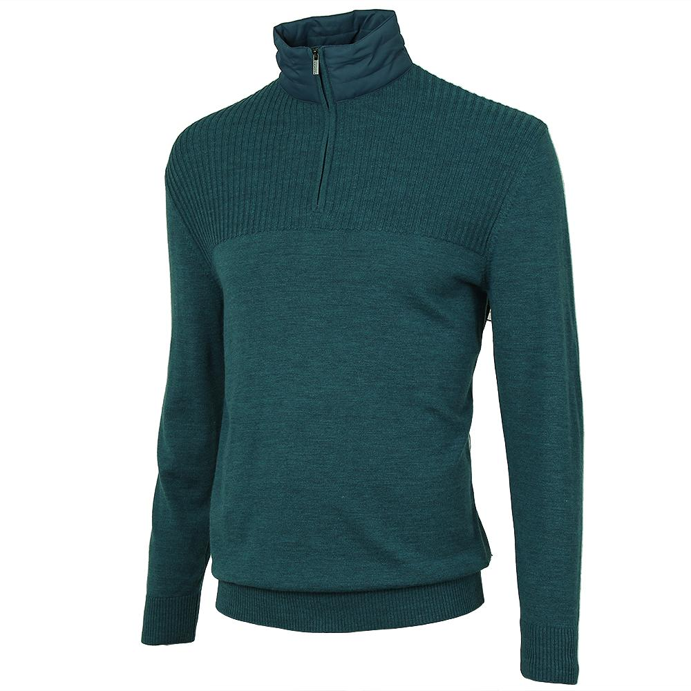 Bugatchi Wool Half Zip Sweater (Men's) - Teal