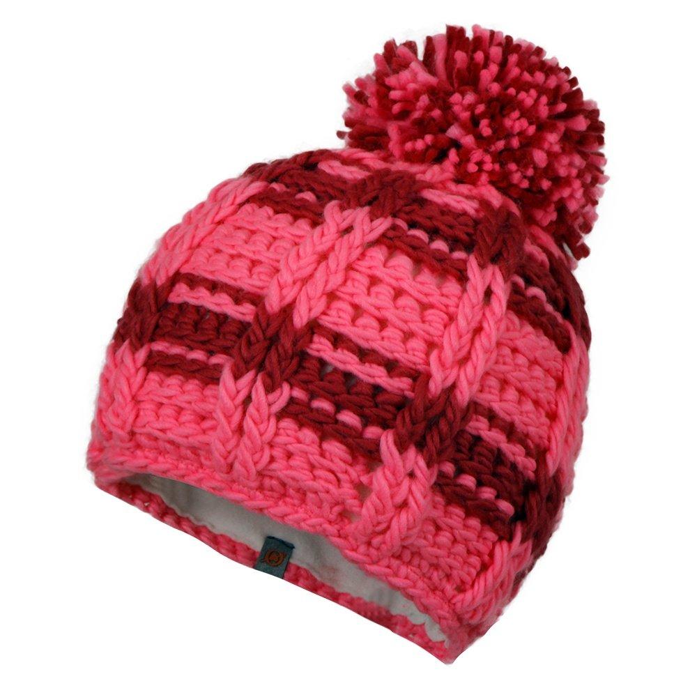 Obermeyer Ski School Knit Hat (Little Girls') - Neo Pink/Wild Berry