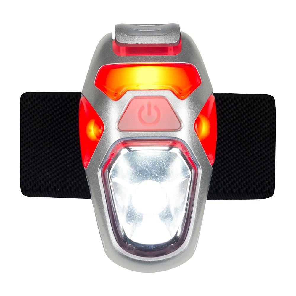 Nathan Orion Strobe LED Light - Firey Red/Silver