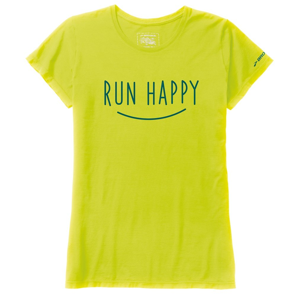 Brooks run happy smile running shirt women 39 s run appeal for Women s running shirts