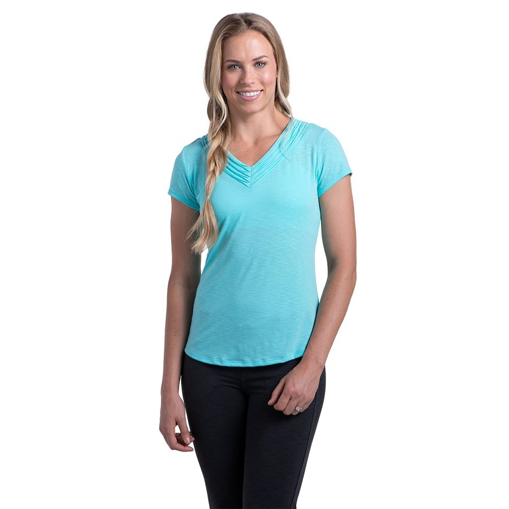 Kuhl Sora Short Sleeve Shirt (Women's) - Aquamarine