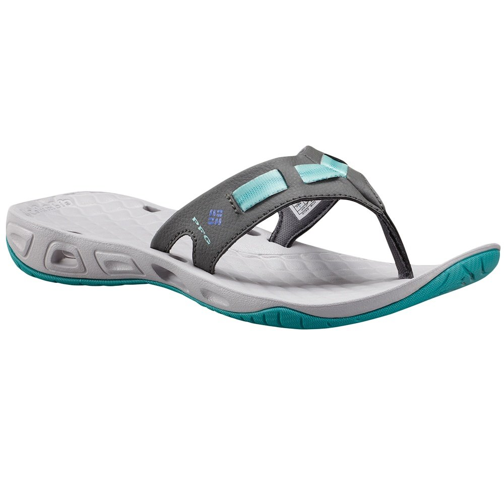 Columbia Sunbreeze Vent Cruz Flip PFG Sandals (Women's) - Dark Fog