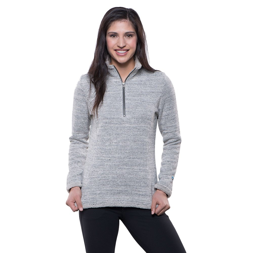 Kuhl Alska Half Zip Sweater (Women's) - Ash