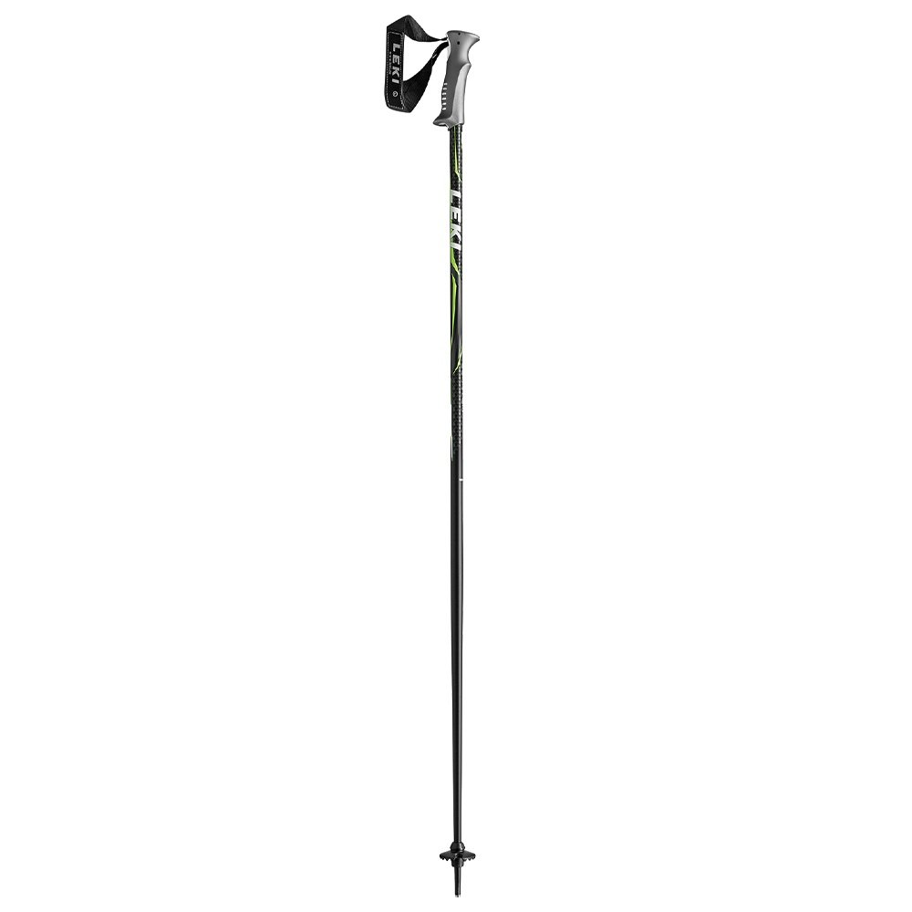 Leki Quantum Ski Pole - Black/Green