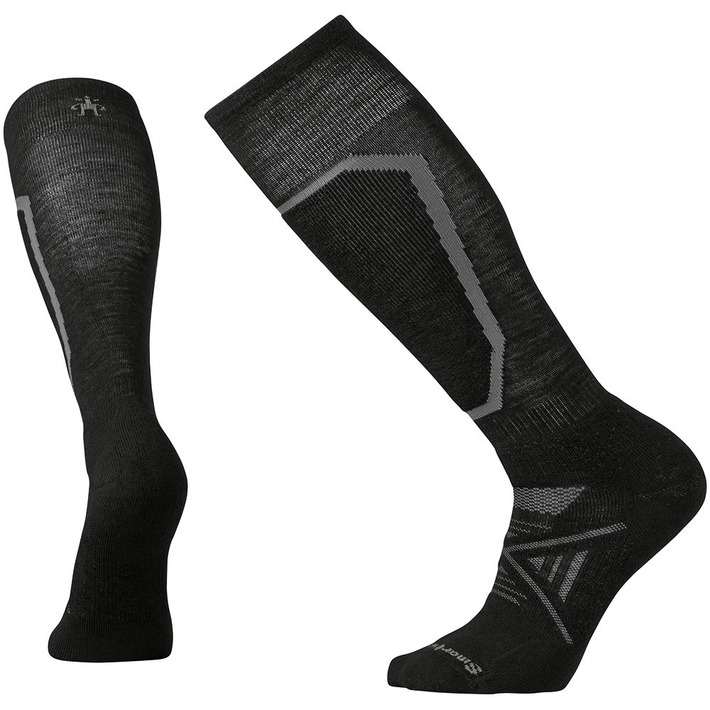 SmartWool PhD Medium Ski Sock (Men's) - Black