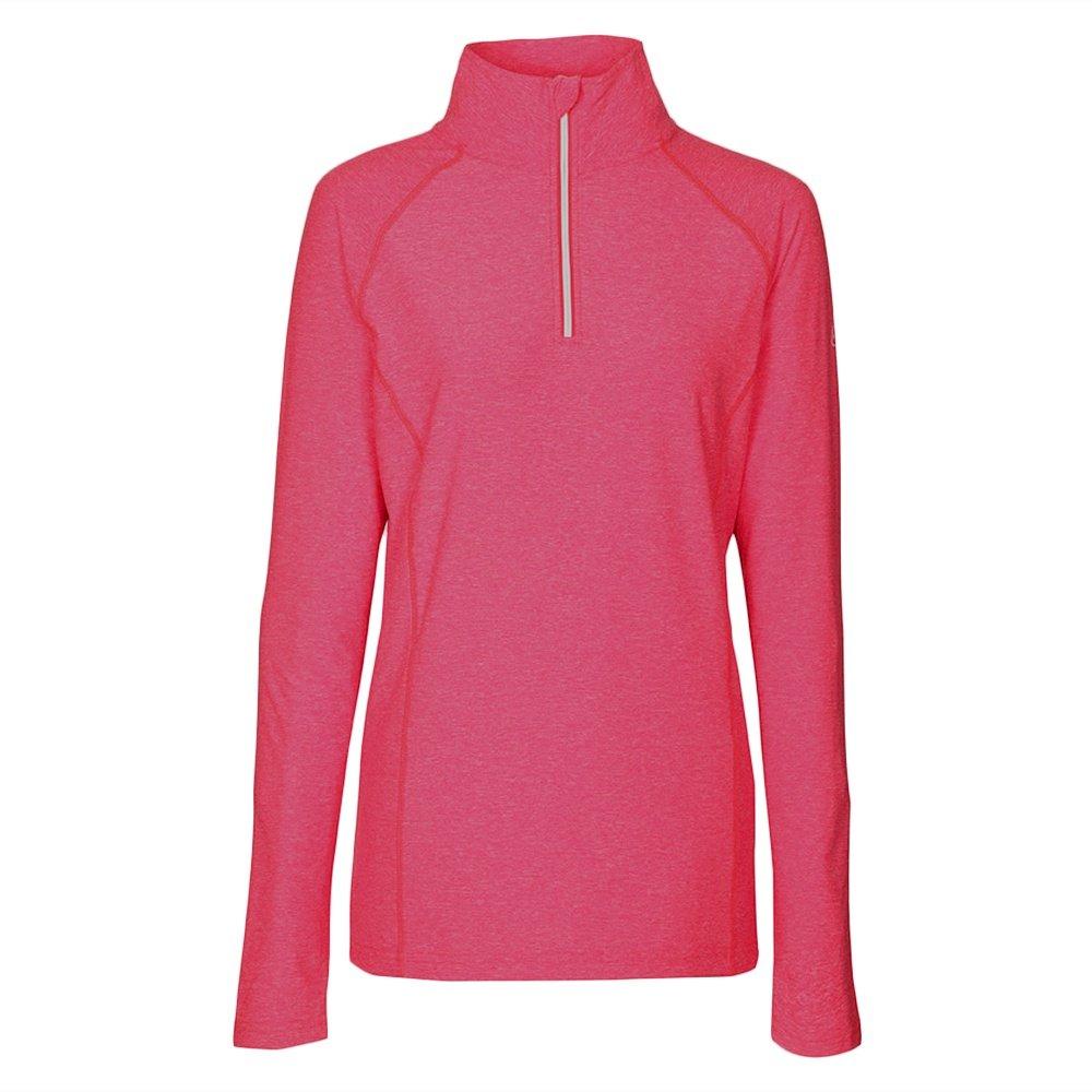 Killtec Sortala Melange Half Zip Turtleneck Mid-Layer (Women's) - Neon Coral