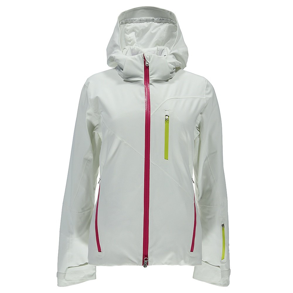 Spyder Fraction Ski Jacket (Women's) - White/Voila/Acid