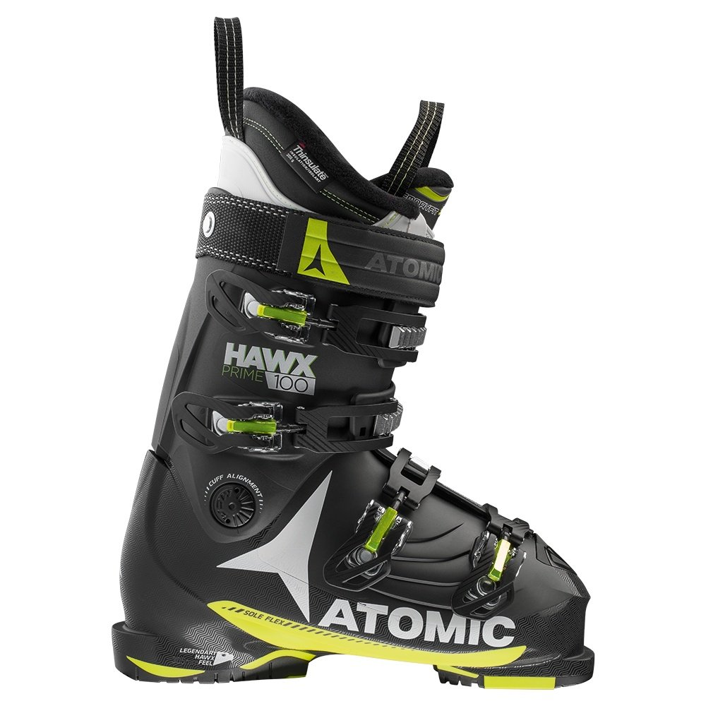 Atomic Hawx Prime 100 Ski Boot (Men's) - Black/Lime/White