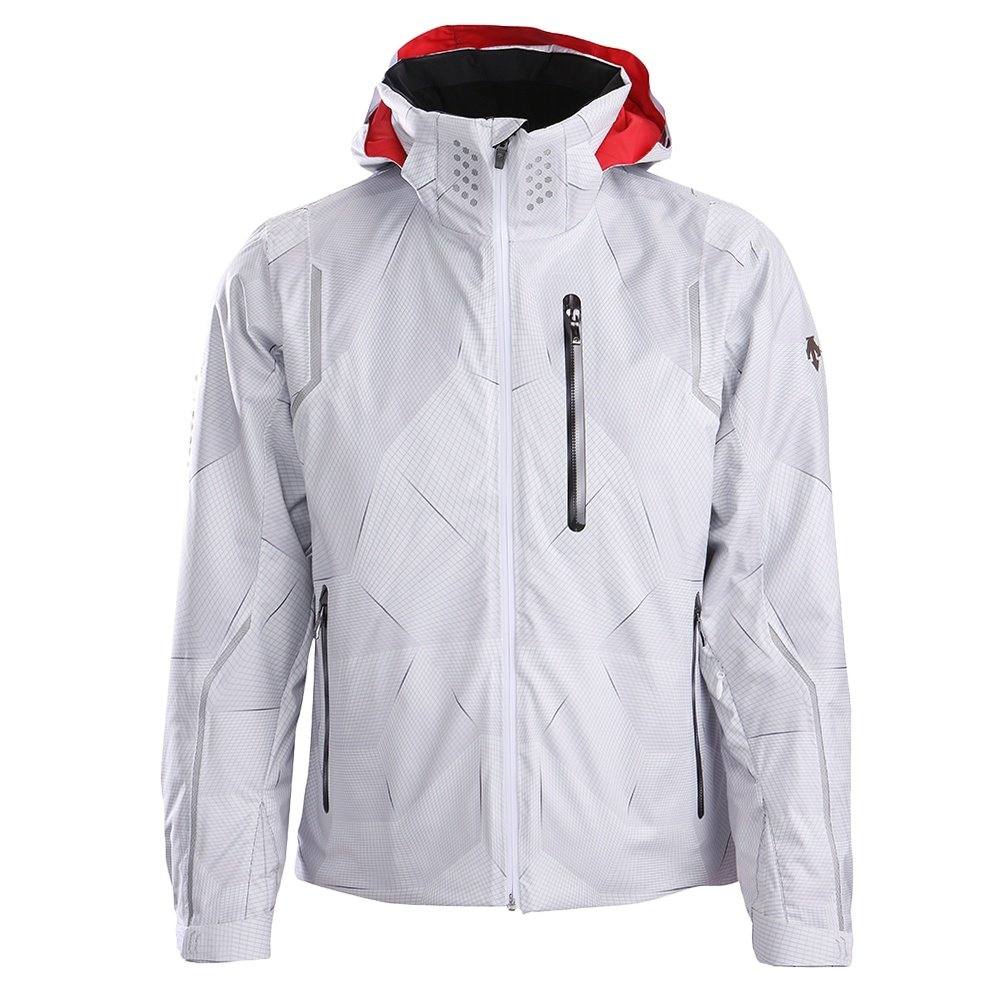 Descente Major Insulated Ski Jacket (Men's) - White/Electric Red