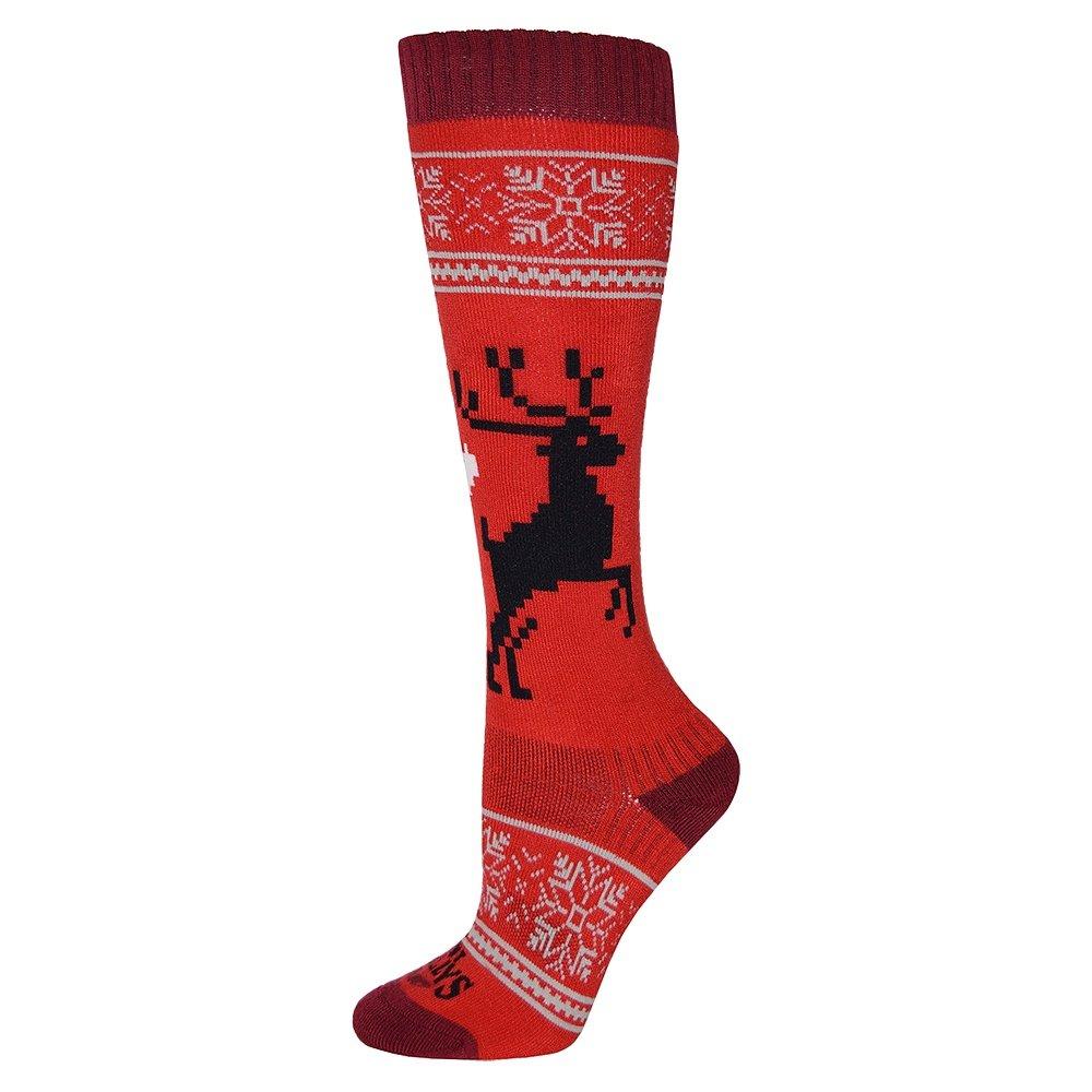 Hot Chillys Holiday Fever Mid Volume Ski Sock (Women's) -