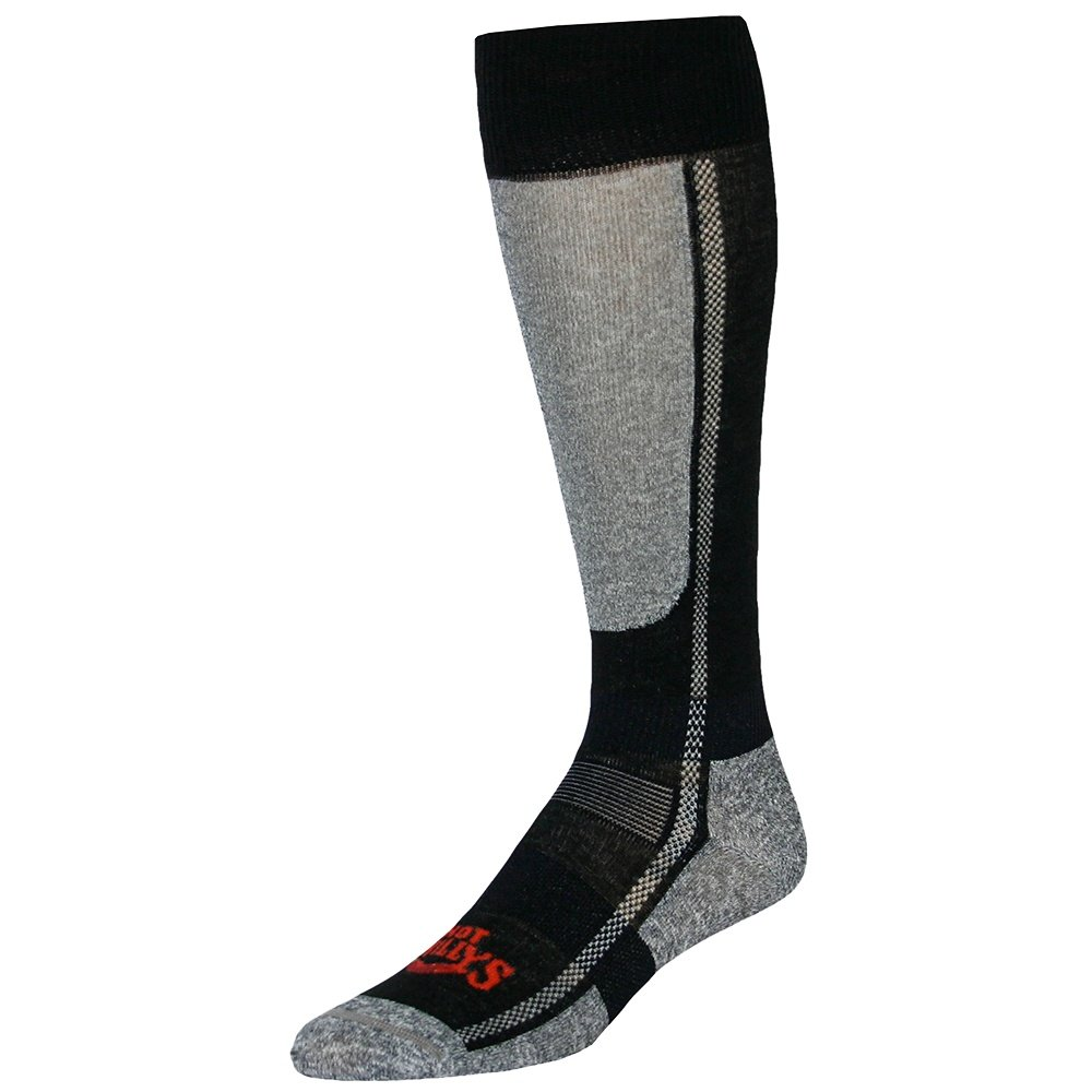 Hot Chillys Low Volume Ski Sock (Men's) - Black/Heather