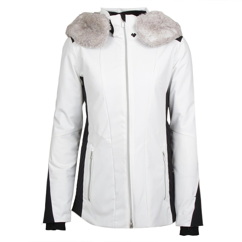 Obermeyer Siren Faux Fur Insulated Ski Jacket (Women's) - White