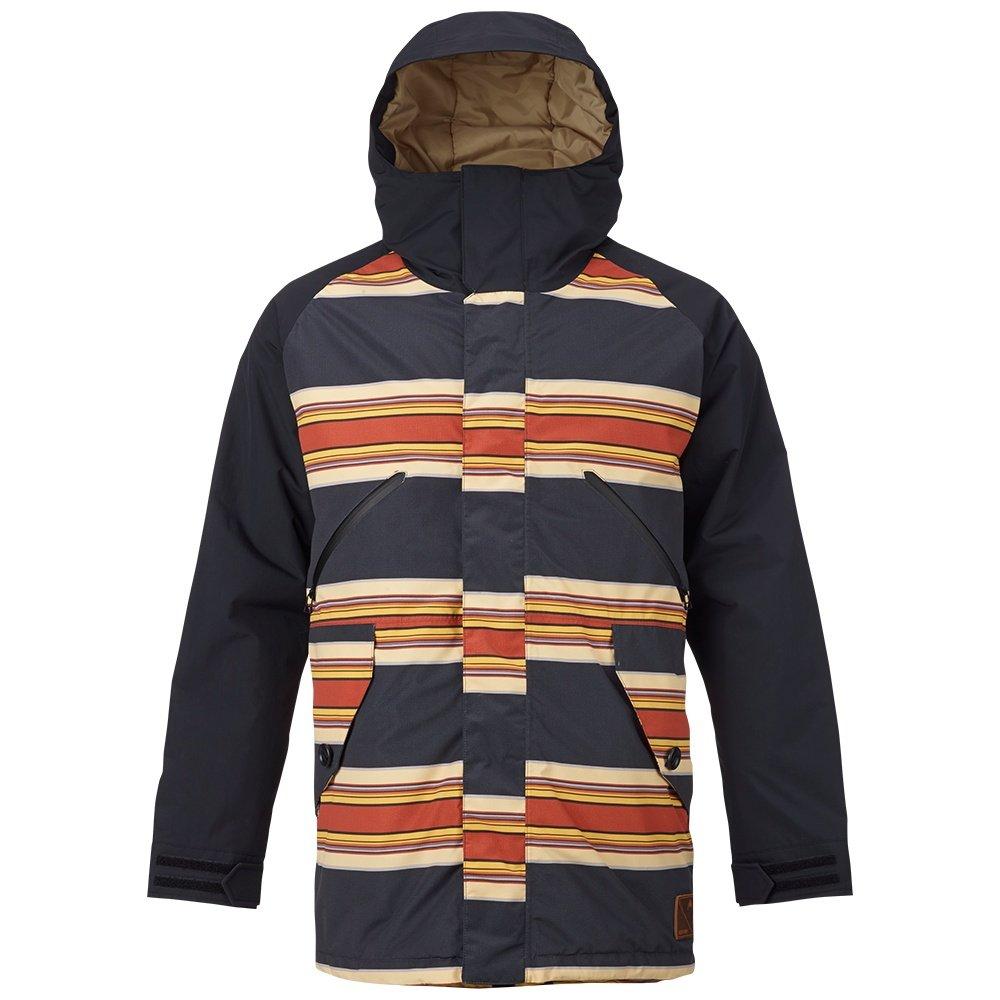 Burton Breach Insulated Snowboard Jacket (Men's) - Vintage Stripe/True Black/Kelp