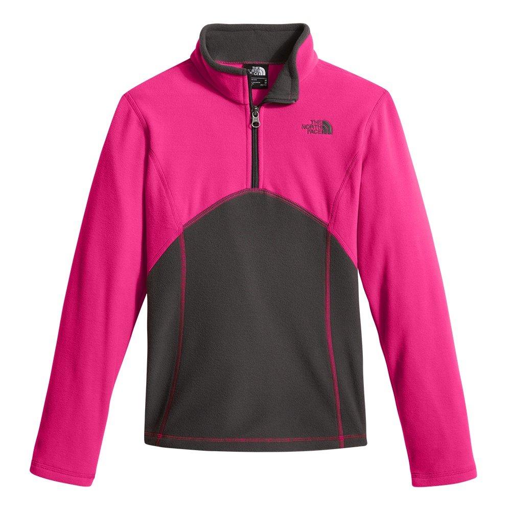 The North Face Glacier Half Zip Fleece Mid-Layer (Girls') - Petticoat Pink