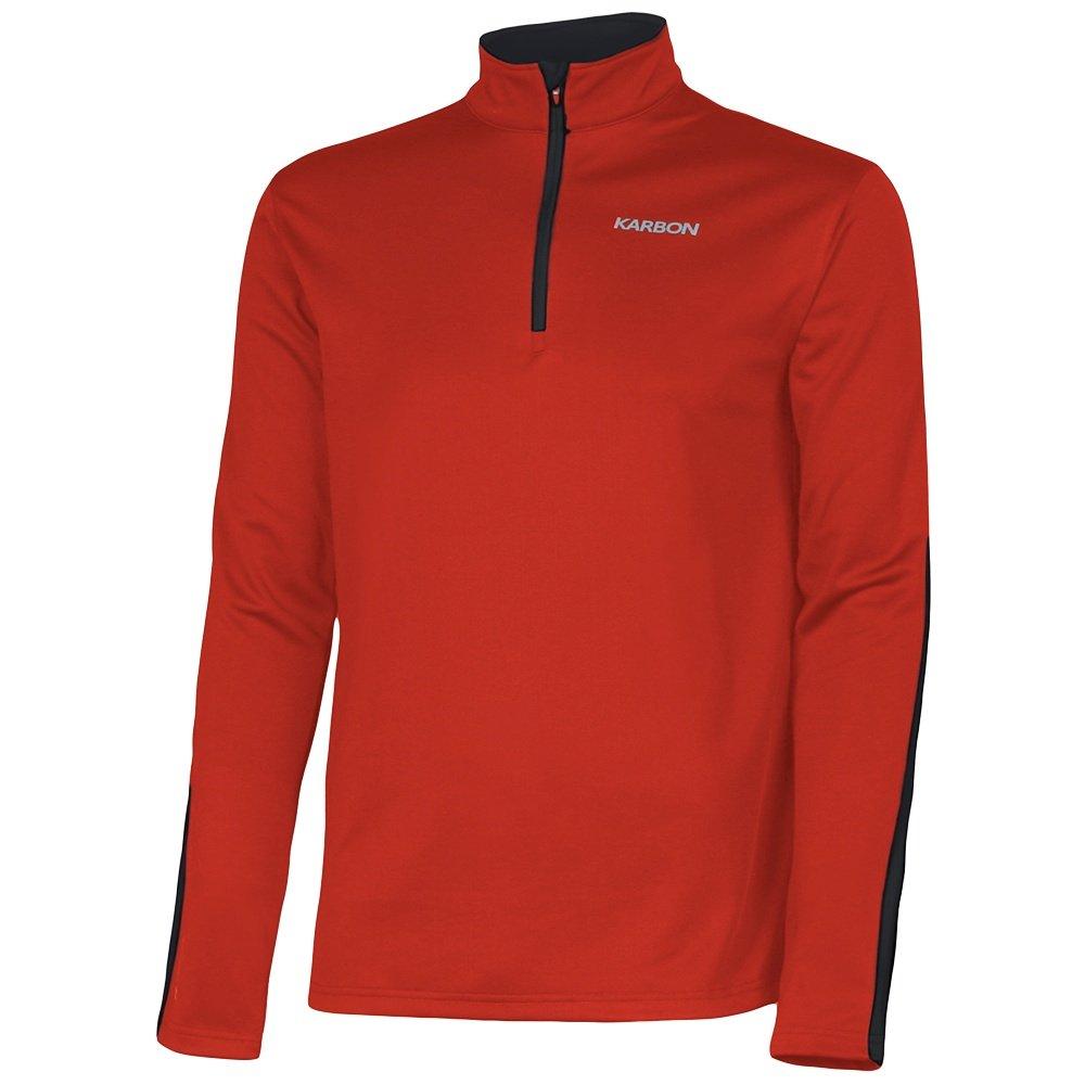 Karbon Chronus 1/4-Zip Turtleneck Fleece Mid-Layer (Boys') - Red/Black