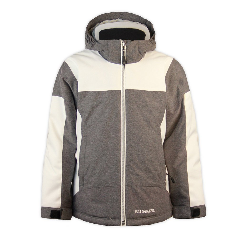 Boulder Gear Hype Ski Jacket (Girls') - Raven Texture/White