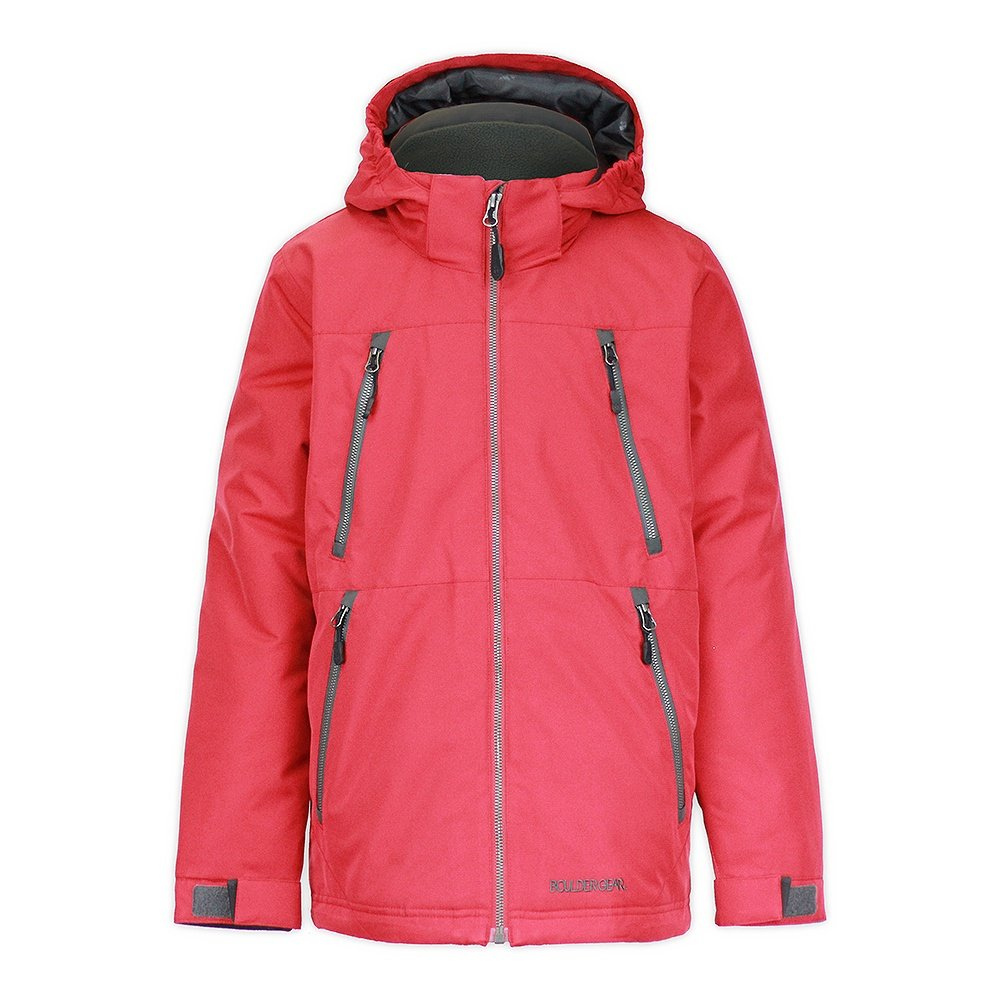 Boulder Gear Highflier Jacket (Boys') - Chili Pepper/Raven Gray