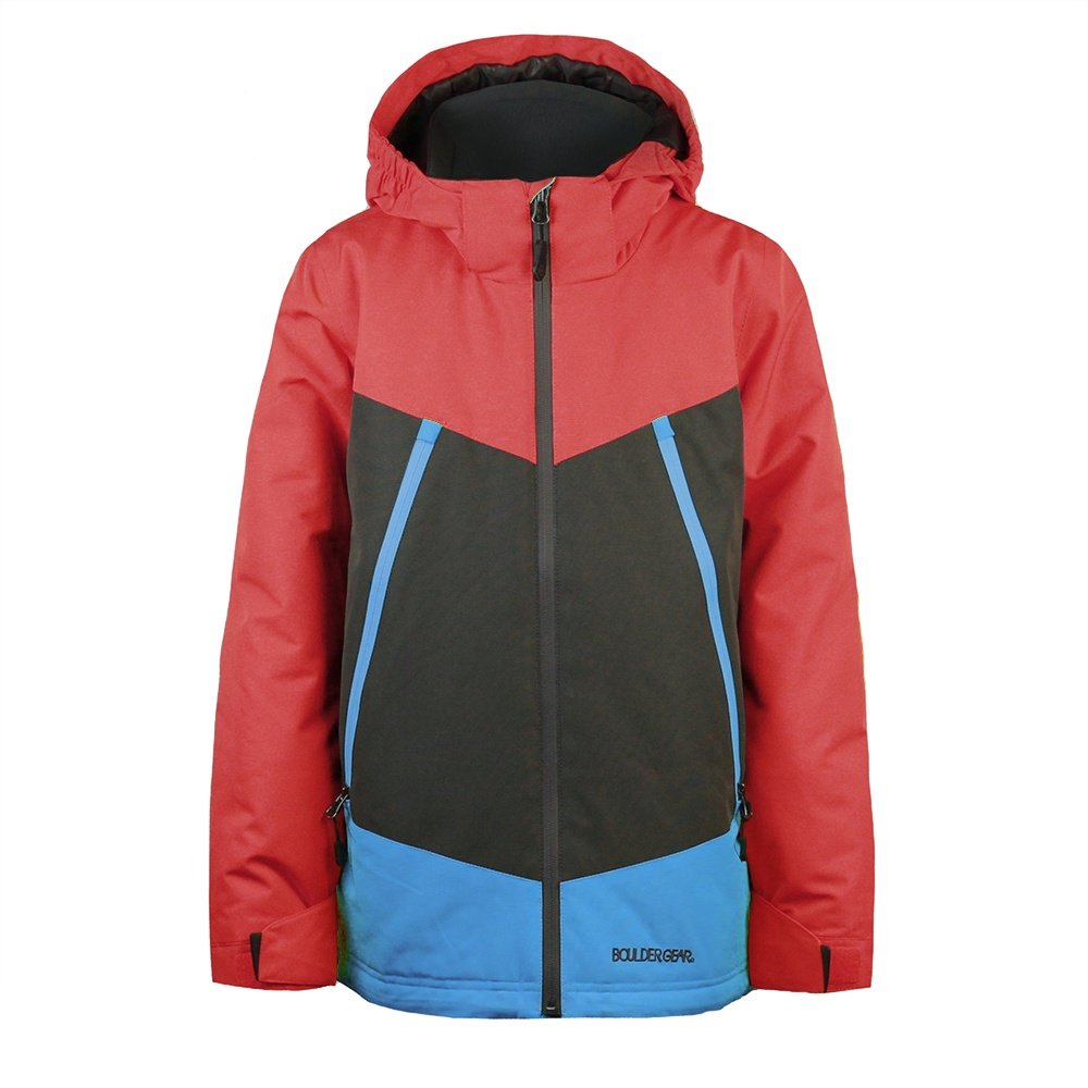 Boulder Gear Venturous Jacket (Boys') - Chili Pepper/Raven Gray/Sky Blue