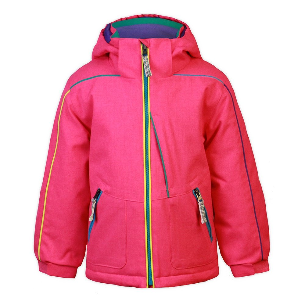 Snow Dragons Razzy Ski Jacket (Little Girls') - Pink Shock/Tropical Diva/Simply Pink