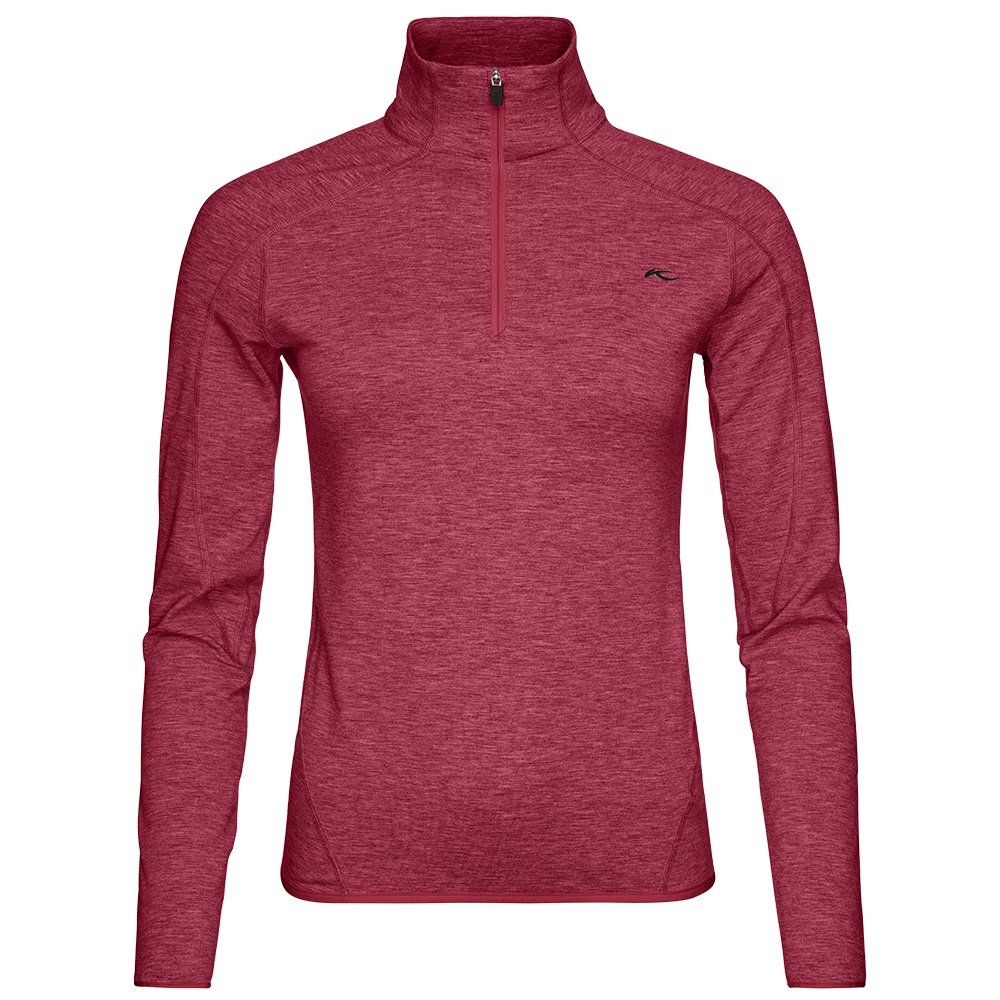 KJUS Trace Half Zip Fleece Mid-Layer (Women's) - Persian Red/Melange