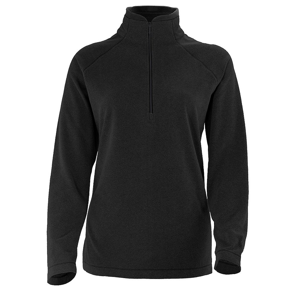White Sierra Alpha Beta Half Zip Extended Fleece Mid-Layer (Women's) - Black
