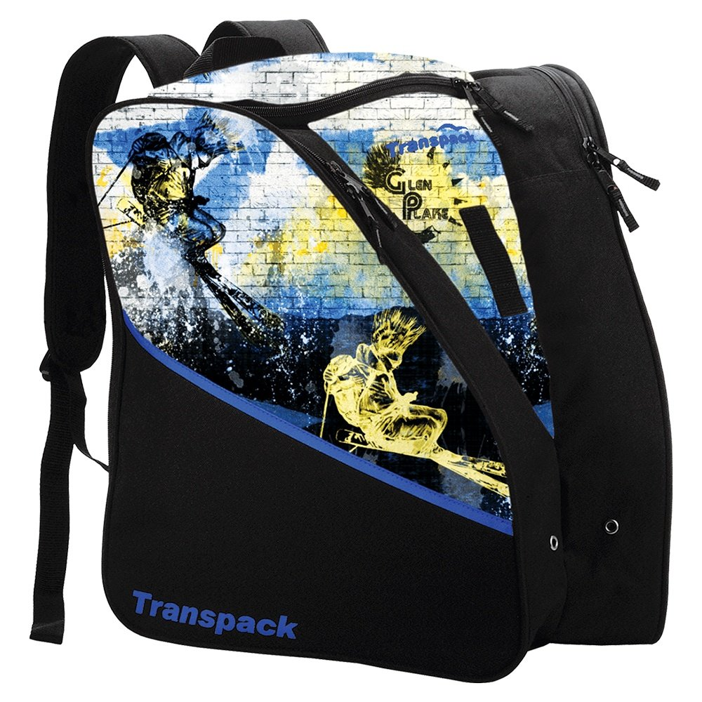 Transpack Edge Jr Printed Boot Bag - Glen Plake Blue/Yellow