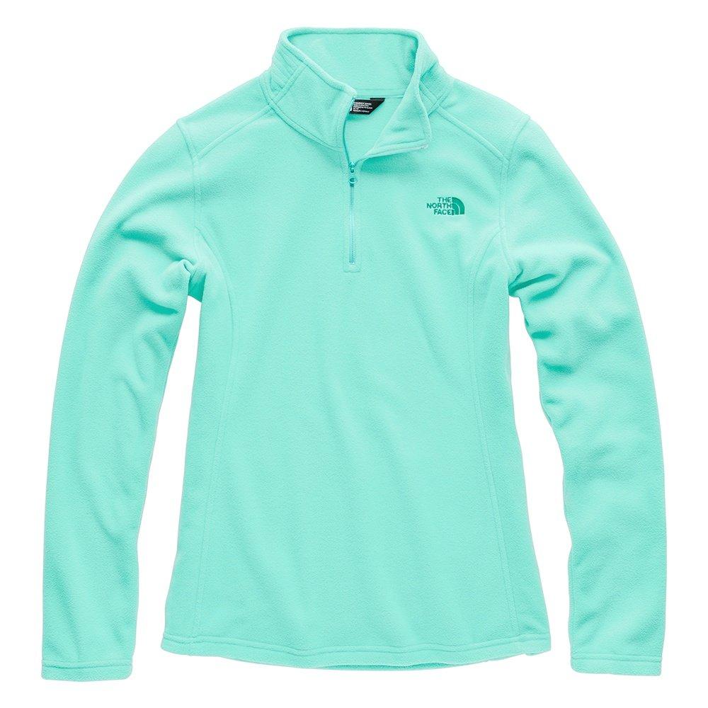 The North Face Glacier Half Zip Fleece Top (Women's) - Mint Blue