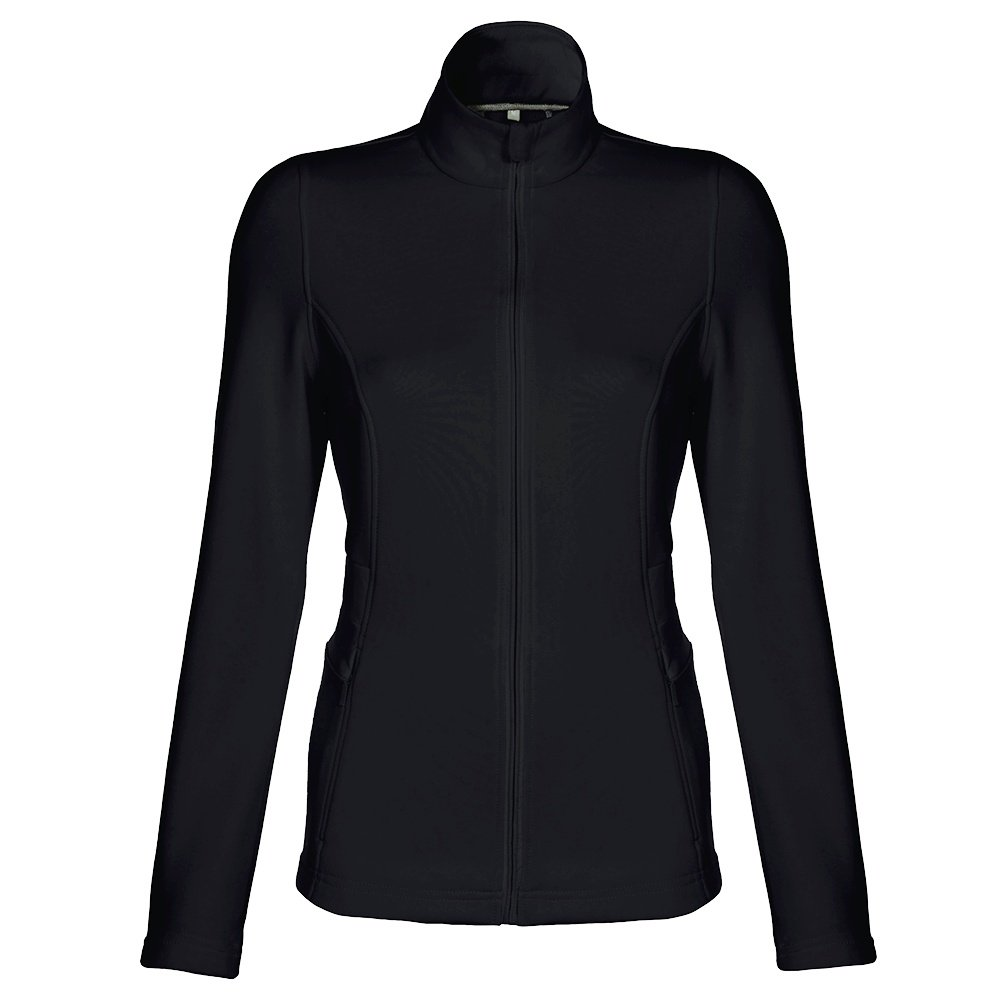 Poivre Blanc Full-Zip Stretch Fleece Jacket (Women's) - Black