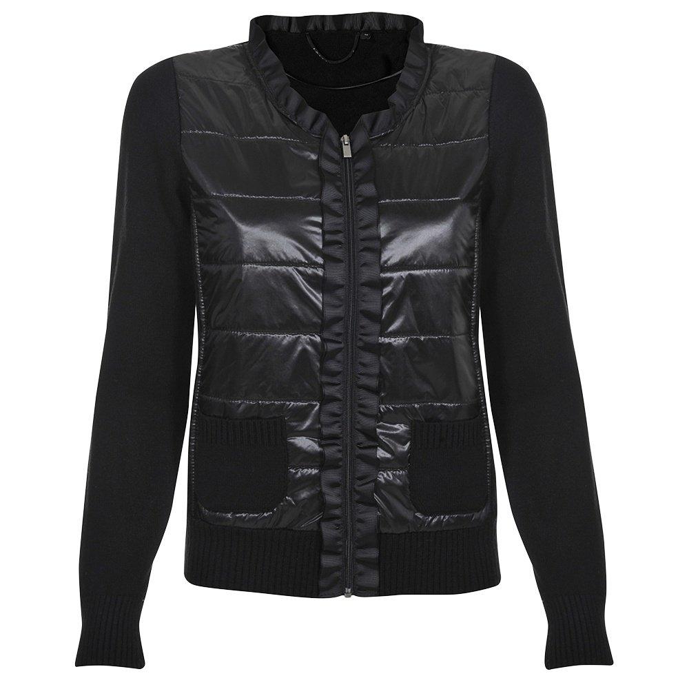 Poivre Blanc Ruffle Knit Sweater (Women's) - Black
