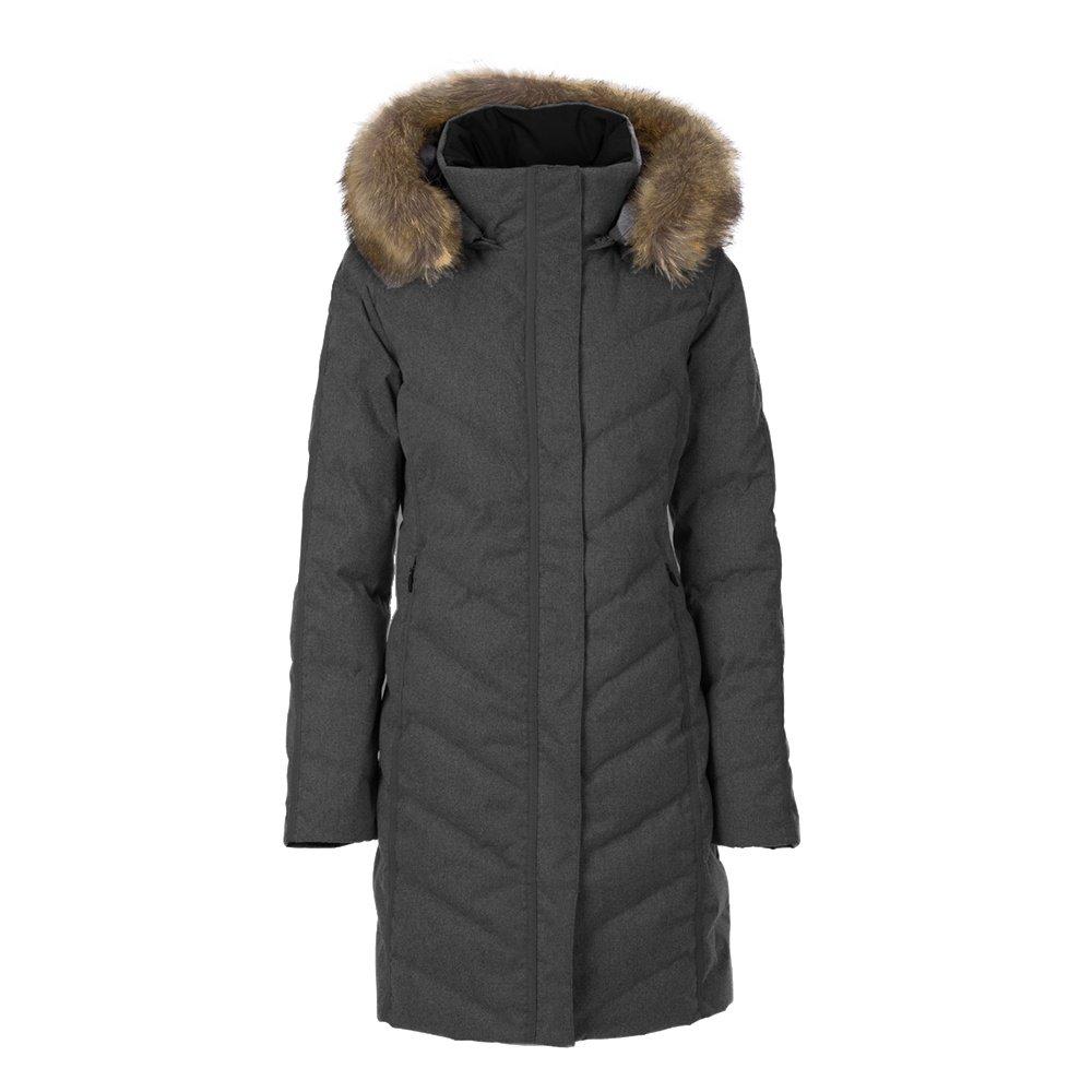 Fera Selene Real Fur Coat (Women's) - Gray Flannel
