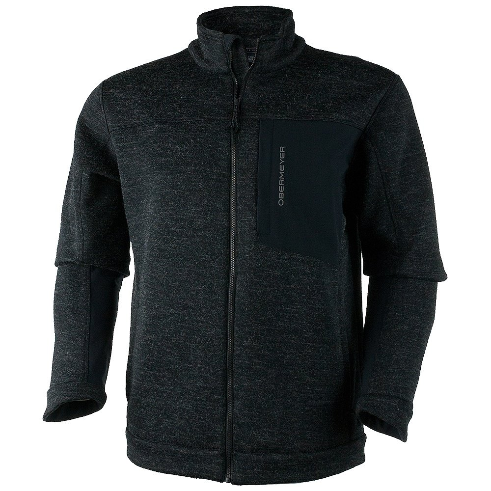 Obermeyer Gunner Bonded Knit Fleece Jacket (Men's) - Black
